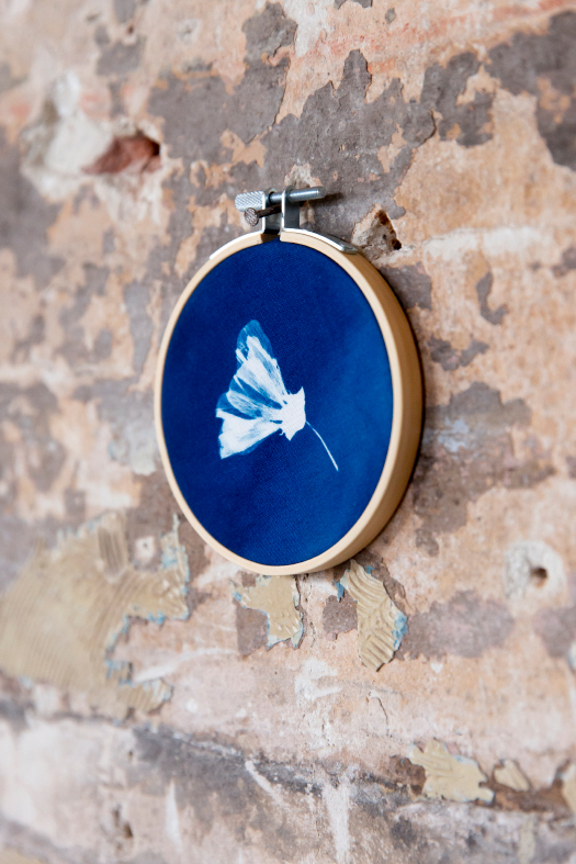 Cyanotype borduurring Jonna van Hesteren 2